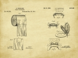 Bathroom Patent Art Duo-U.S. Shipping Included
