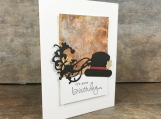 Dapper Man Birthday Card with Rusted Metal Look