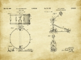 Drummer Patent Art Duo-U.S. Shipping Included