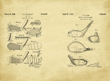 Golf Club Patent Art Duo-U.S. Shipping Included