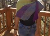 Gorgeous asymmetrical lightweight shawl