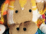 Hand Knitted Child's Multicoloured Monkey Scarf