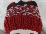 Hand Knitted Child's Multicoloured Santa Claus Winter Hat