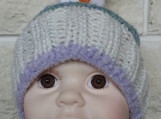 Hand Knitted Small Child's Multicoloured Snowman Winter Hat