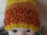 Hand Knitted Toddler's Giraffe Multicoloured Winter Hat