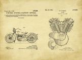 Harley Motorcycle Patent Art Duo-U.S. Shipping Included