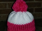 Little girls cupcake hat in pink and white, so soft