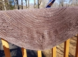 lovely knit shawl is made of hand dyed 100 percent merino w