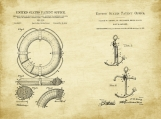 Nautical Patent Art Duo-U.S. Shipping Included
