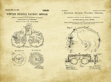Optometry Patent Art Duo-U.S. Shipping Included