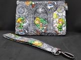 SALE! Legend of Zelda wristlet/clutch, detachable wrist strap