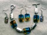 set 2 pairs earrings & bracelet (A)