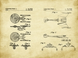 Star Trek Patent Art Duo-U.S. Shipping Included