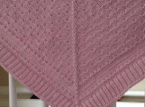 Very warm Aran weight 100 % merino wool shawl, broach closure