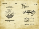 Vinyl Patent Art Duo-U.S. Shipping Included