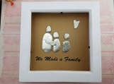 We Made A Family Personalised Pebble Art Frame � Add Your Family