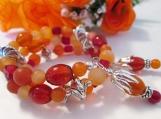Carnelian Gemstone Wrap Around Bracelet, Memory Wire