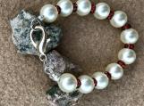 Handcrafted Large Swarovski  Pearl Bracelet