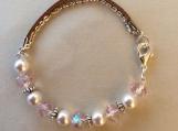 Handcrafted Swarovski Pearl And Pink Bracelet