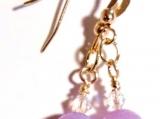 Lavender Jade Earrings, Gemstone and Crystal Earrings, Sale Bead