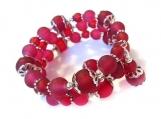 Memory Wire Bracelet, Wine Colored Jewelry, Wrap Bracelets for W