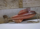 Re-cycled wood fish decoys and lures