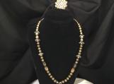 A vintage leather pendant necklace