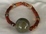 Acrylic and Glass Bead  Bracelet