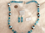Aqua/GreenNecklace & Earring set