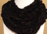 Black Sequined Chain Scarf