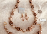 Copper Color Looking Necklace,Bracelet & Earring Set