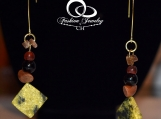 Earrings, Gold Plated. Organic, Natural