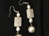 Earrings with Beads, Glass Pearls
