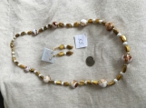 Gold & White Necklace & Earring Set