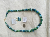 Green & Blue Necklace & earring set