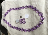Light Purple Necklace & earring set