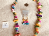 Multi Colored Necklace & earring set