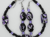 Purple Swirl Bracelet and Earring Set