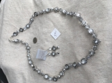 Silver & Crystal Necklace & Earring Set