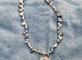Silver tone necklace with Sand-dollar pendant