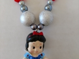 Snow White Chunky Girl's Necklace