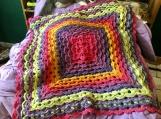 Textured Granny Baby Blanket