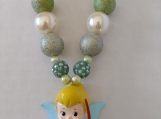 Tinkerbell Chunky Girls Necklace