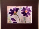 Watercolor Painting - Purple Flowers