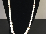 White Czech Glass Necklace with Matching Bracelet and Earrings