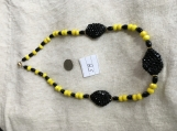 Yellow & Black necklace
