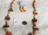 Yellow & Orange Necklace & Earring Set