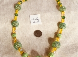 Yellow & Peridot Green Necklace