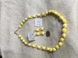 Yellow Necklace & Earring Set