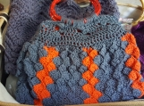 Blue*Orange Crosshatch Purse